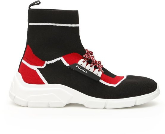 Hi-top Knit Sneakers