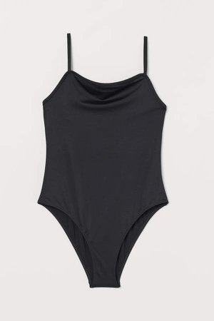 Low-backed Swimsuit - Black