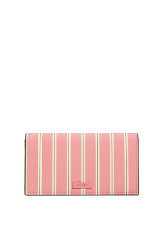 MANGO Striped wallet