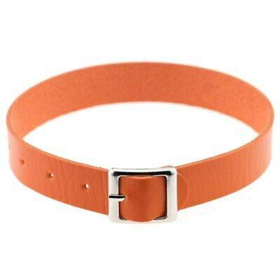 Fine quality Harajuku Belt Collar Choker Necklace PU Leather Choker Punk Goth | eBay orange