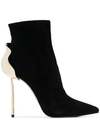 Black Le Silla Pointed Ankle Boots | Farfetch.com