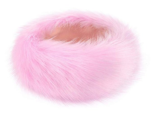 Futrzane Winter Faux Fur Headband for Women and Girls (Black) at Amazon Women's Clothing store: Cold Weather Headbands