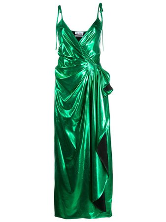 Attico Draped Midi Dress - Farfetch