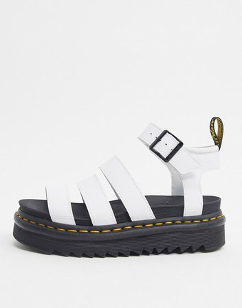 Dr Martens Blaire sandals in white | ASOS
