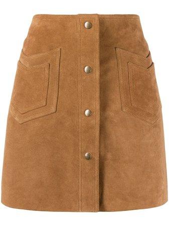 Saint Laurent Western Detail A-Line Skirt Ss20   Farfetch.com