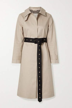 Roslin Belted Bonded Cotton Trench Coat - Beige