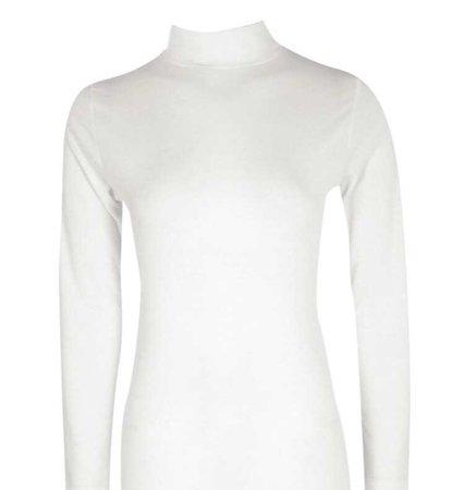 white turtleneck shirt