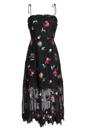BB Dakota Let's Dance Mesh Midi Dress | Nordstrom