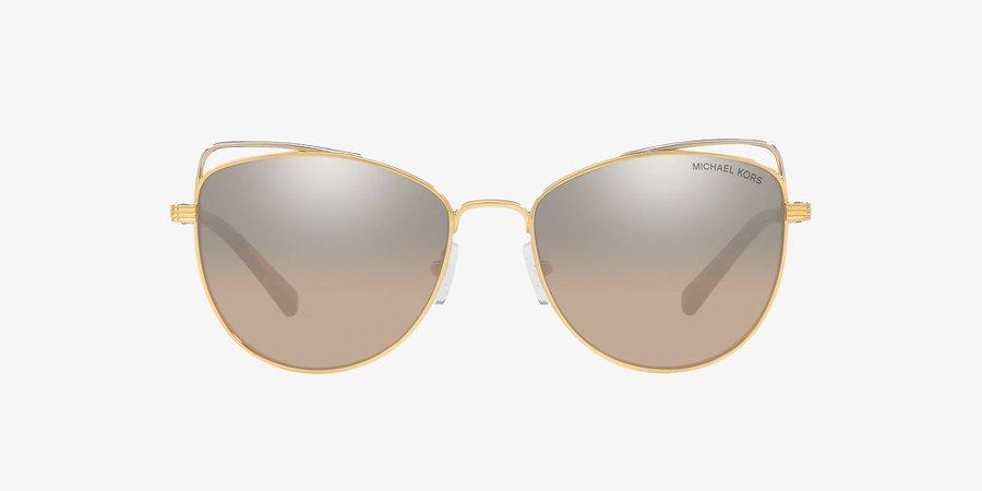 Michael Kors MK1035 ST. LUCIA 55 Light Brown Gradient & Gold Sunglasses | Sunglass Hut USA