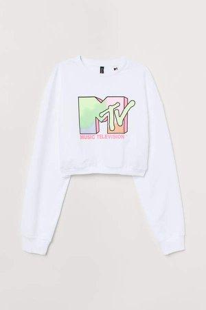 Short Sweatshirt - White