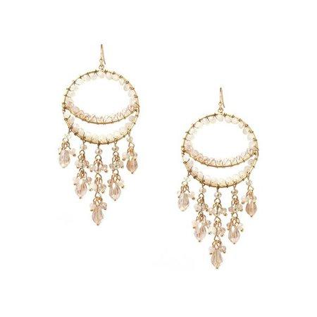 Earrings | Shop Women's Lavender Fringe Circle Earring at Fashiontage | 9932E-3