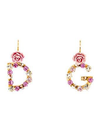 Dolce & Gabbana 'DG' Crystal Rose Earrings - Earrings - DAG144958 | The RealReal