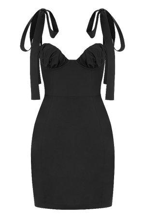 Clothing : Mini Dresses : Mistress Rocks 'Queen' Black Twill Mini Dress