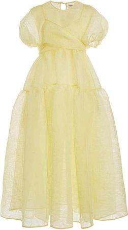 Cecilie Bahnsen Anna Textured Organza Wrap Dress