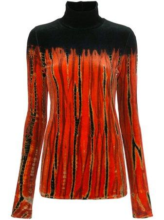 Proenza Schouler tie-dye velvet turtleneck top - FARFETCH