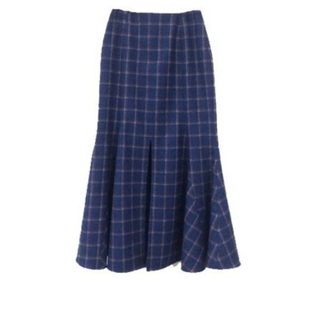 checked mandarin glamour printed skirt