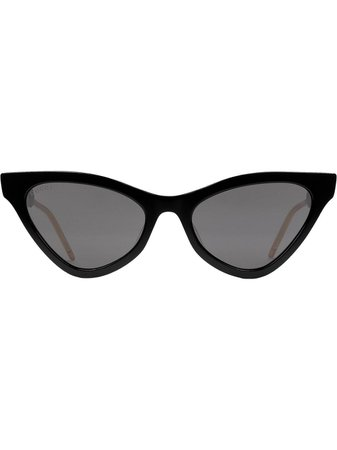 Black Gucci Eyewear Cat Eye Sunglasses | Farfetch.com