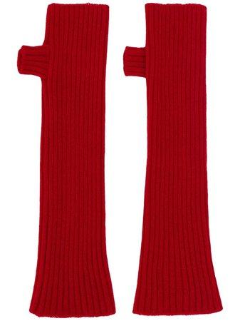 Plan C Filato Super-Size Gloves GUCCA52L00FW002 Red   Farfetch