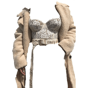BUSTIER TOP AND COAT PNG