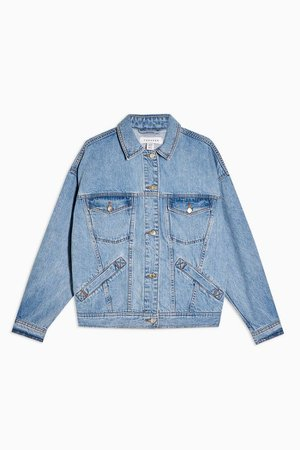 CONSIDERED Oversized Denim Jacket | Topshop