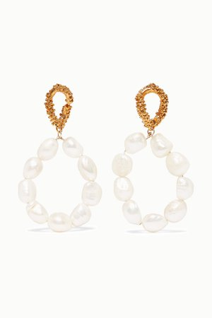 Gold Apollo's Dance gold-plated pearl earrings | Alighieri | NET-A-PORTER