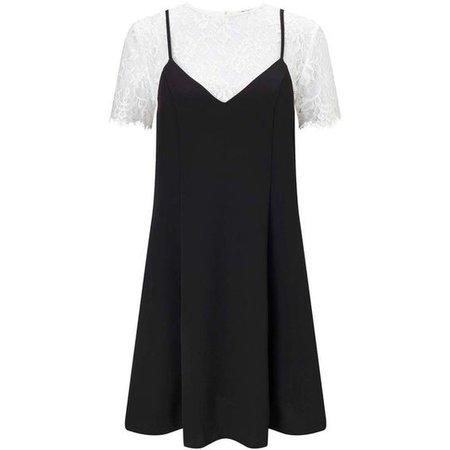 Miss Selfridge Lace Tee Cami Dress