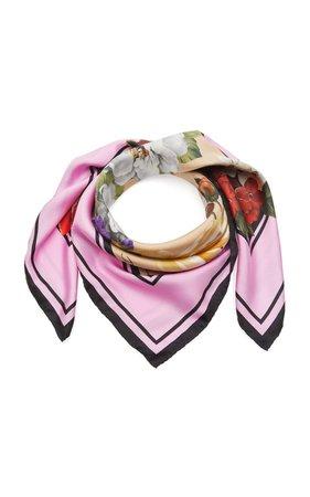 Flori Printed Silk Scarf by Dolce & Gabbana | Moda Operandi
