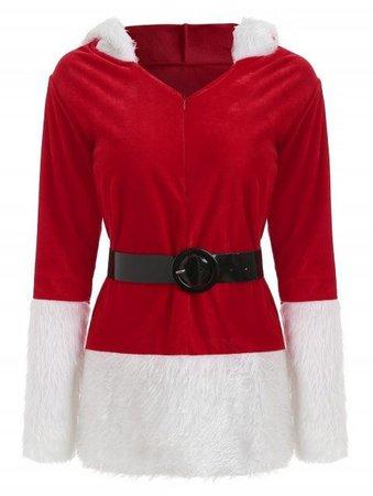 Christmas Santa Claus Costume Velvet Dres