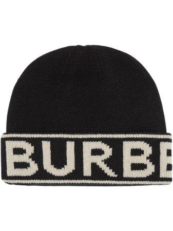 Burberry Cashmere Logo Intarsia Beanie Ss20 | Farfetch.com