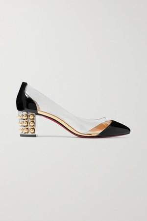 Gallica 55 Pvc And Patent-leather Pumps - Black