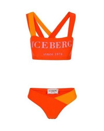 Orange Iceberg bandage bikini
