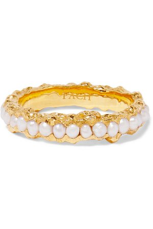 Pacharee | Gold-plated pearl ring | NET-A-PORTER.COM