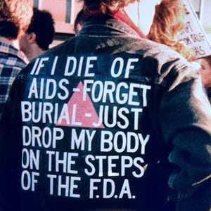 punk protest leather jacket