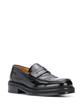 AMI Paris Leather square-toe Loafers - Farfetch