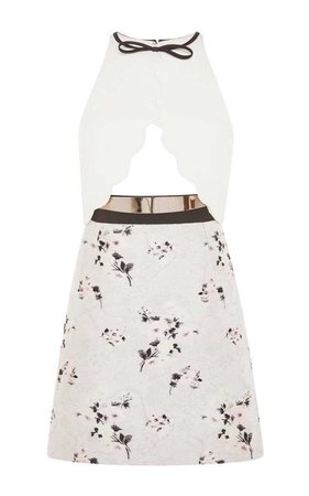 GIAMBATTISTA VALLI Cut Out Floral Sleeveless Dress