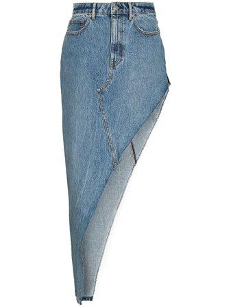 Alexander Wang Asymmetric Denim Skirt - Farfetch