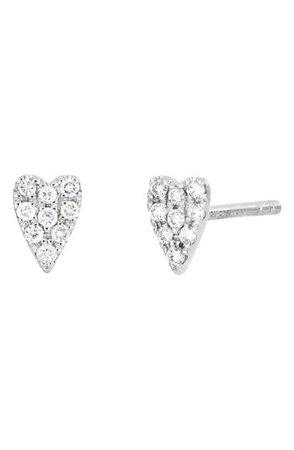Bony Levy Icons Diamond Heart Stud Earrings (Nordstrom Exclusive) | Nordstrom