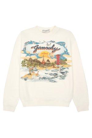 Джемпер из хлопка Givenchy Свитшот Белый на BABOCHKA.RU