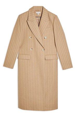Topshop Pinstripe Longline Jacket | Nordstrom