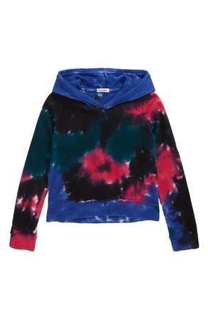 Love, Fire Tie Dye Hooded Sweatshirt (Big Girls) | Nordstrom