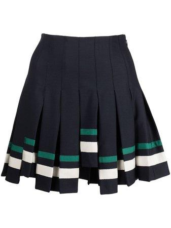 Monse step-hem pleated mini skirt