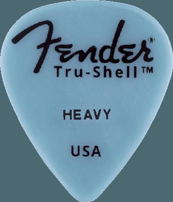 fender Guitar pick Tru-Shell ™ 351 Shape, Heavy, (1)
