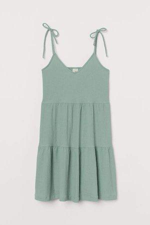 V-neck Jersey Dress - Turquoise
