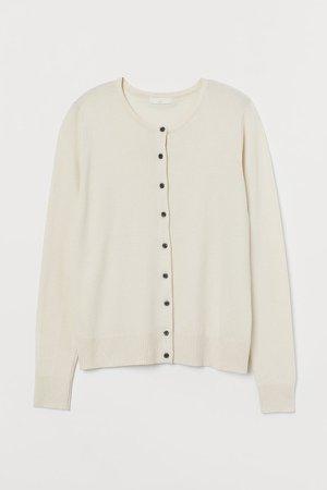 Fine-knit Cardigan - Beige