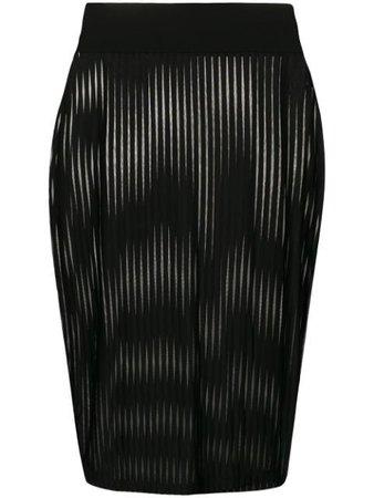 Black Maison Close striped pencil skirt - Farfetch