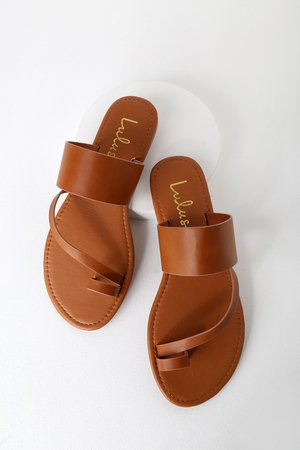 Cute Light Tan Sandals - Flat Sandals - Lulus