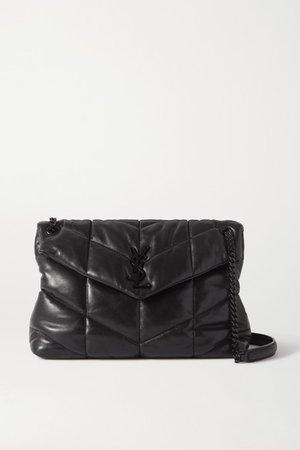 Loulou Quilted Leather Shoulder Bag - Black