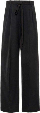 Ann Demeulemeester Cotton-Blend Wide-Leg Pants
