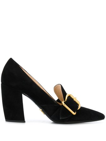 Prada buckled pointed pumps £745 - Shop Online. Same Day Delivery in London