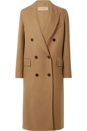 Burberry | Double-breasted wool and silk-blend twill coat | NET-A-PORTER.COM